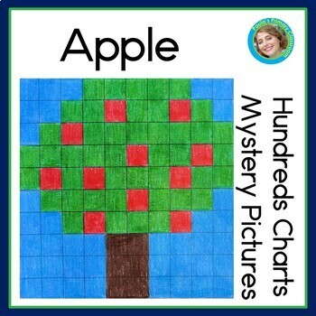 Apple Hundreds Chart Mystery Pictures