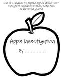 Apple Investigation Journal {using the 5 senses}