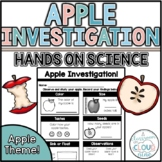 Apple Investigation {*NO PREP* Hands on Science Sheet}