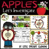Apple Investigation Unit (Apple Life Cycle) includes posters and experiments
