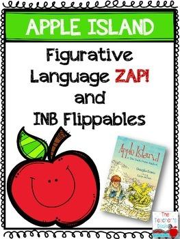 """Apple Island"" Figurative Language ZAP and INB Foldables"