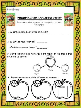 Apple Jack Math Spanish- Mate con Apple Jacks