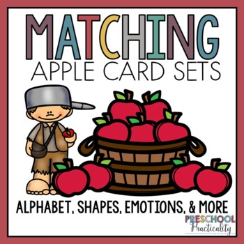 Apple Johnny Appleseed Matching Activities for Toddlers, Preschool, and PreK
