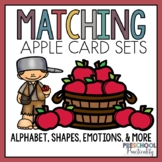Apple Johnny Appleseed Matching Activities for Toddlers, P