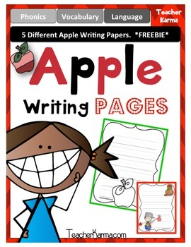 Apple Journal Writing Papers ~ Fall Themed ~ Johnny Appleseed