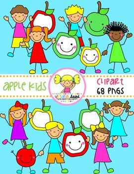 Apple Kids Clipart