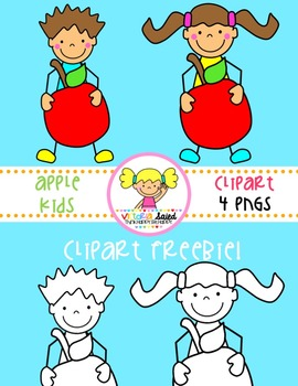 Apple Kids Clipart Freebie