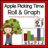 Apple Math Roll & Graph Activity
