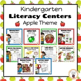 Apple Kindergarten Literacy Centers BUNDLE - B