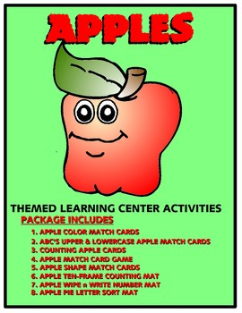 Apple Kit One  - Themed Learning Center Activity Kit