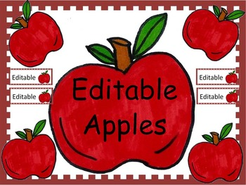 Apple Labels Editable
