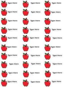 Apple Labels Editable