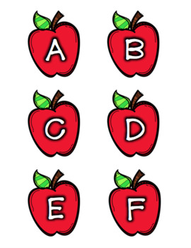 Apple Labels [Letters/Symbols - ALL SIZES]