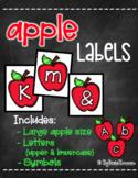 Apple Labels [Letters/Symbols - LARGE SIZE]
