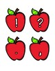 Apple Labels [Letters/Symbols - MEDIUM SIZE]