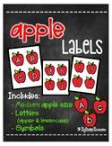 Apple Labels [Letters/Symbols - MEDIUM SIZE]