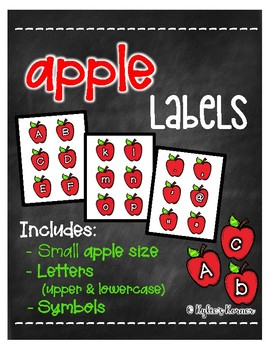 Apple Labels [Letters/Symbols - SMALL SIZE]