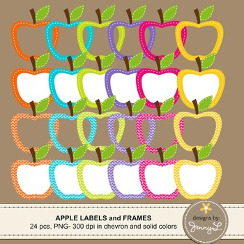 Apple Labels and Frames Clipart