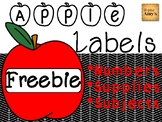Apple Labels for the Classroom [FREEBIE]