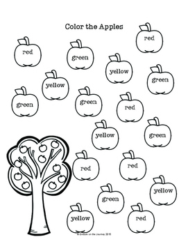 Autumn Apples Learning Pack