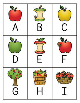 Apple Letter Bingo