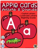 Apple Letter Cards (Capital, Lowercase, & Beginning Sounds)