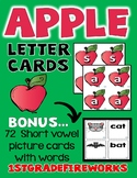 Apple Letter Cards for Making Words..BONUS INCLUDED!