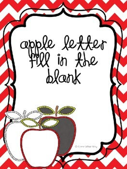 Apple Letter Fill in the Blank / Trace