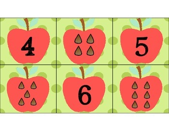 Apple & Pumpkin Letter/Number Match