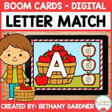 Apple Letter Match - Boom Cards - Distance Learning