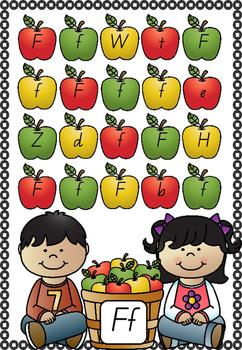 Apple Letter Matching - Alphabet Literacy Centre