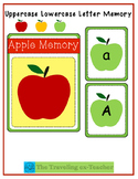 Apple Letter Matching Game- Uppercase and Lowercase Matching