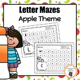 Apple Letter Maze Worksheets