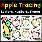 Apple Tracing Cards: Letters, Numbers, Shapes