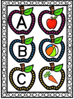 Apple Letter Picture Match (Beginning Sounds)