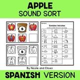 Apple Letter Sort Literacy Center