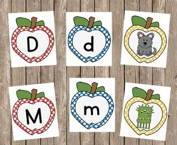 Apple Letter Sound Cards A-Z