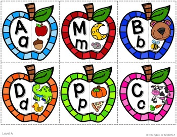 Apple Letter-Sound Puzzles and Printables Pre-K, Kindergarten, Preschool, PreK