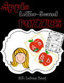 Apple Letter-Sound Puzzles and Printables Pre-K, Kindergar