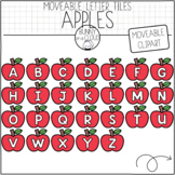 Apple Letter Tiles (Moveable Clipart) by Bunny On A Cloud