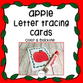 Apple Letter Tracing Cards