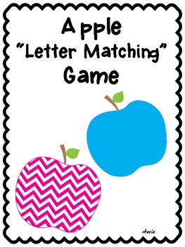 Apple Letter and Number Matching Game