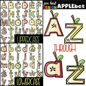 Alphabet Letters Clip Art - Apple Letters {jen hart Clip Art}