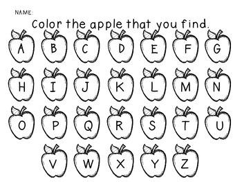 Apple Letters Sensory Cards