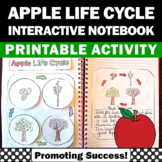 Apple Life Cycle Craft and Writing Activity, Science Interactive Notebook
