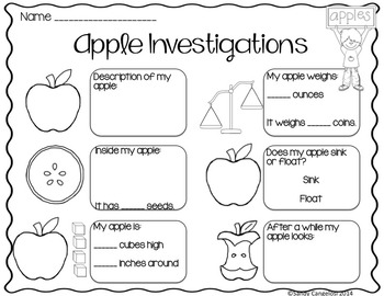 Apple Life Cycle Activities: Slideshow, Science, Math, and Literacy