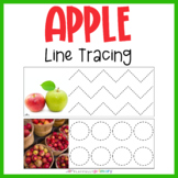 Apple Line Tracing   Handwriting Practice