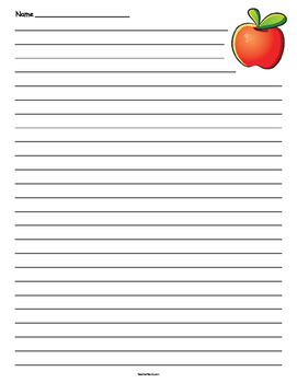 Apple Lined Paper