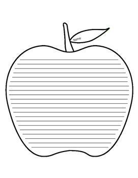 Apple Lined Paper - Intermediate
