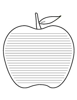 Apple Lined Paper - Intermediate